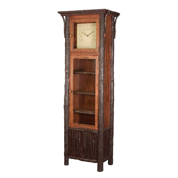Old Country Grandfather Clock With Shelves